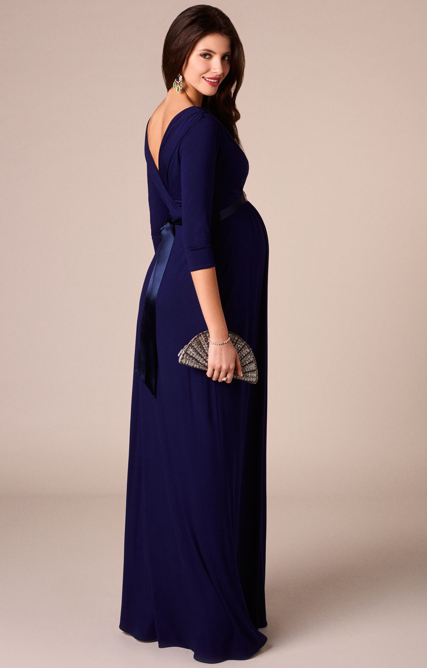Willow Maternity Gown Long Eclipse Blue Maternity