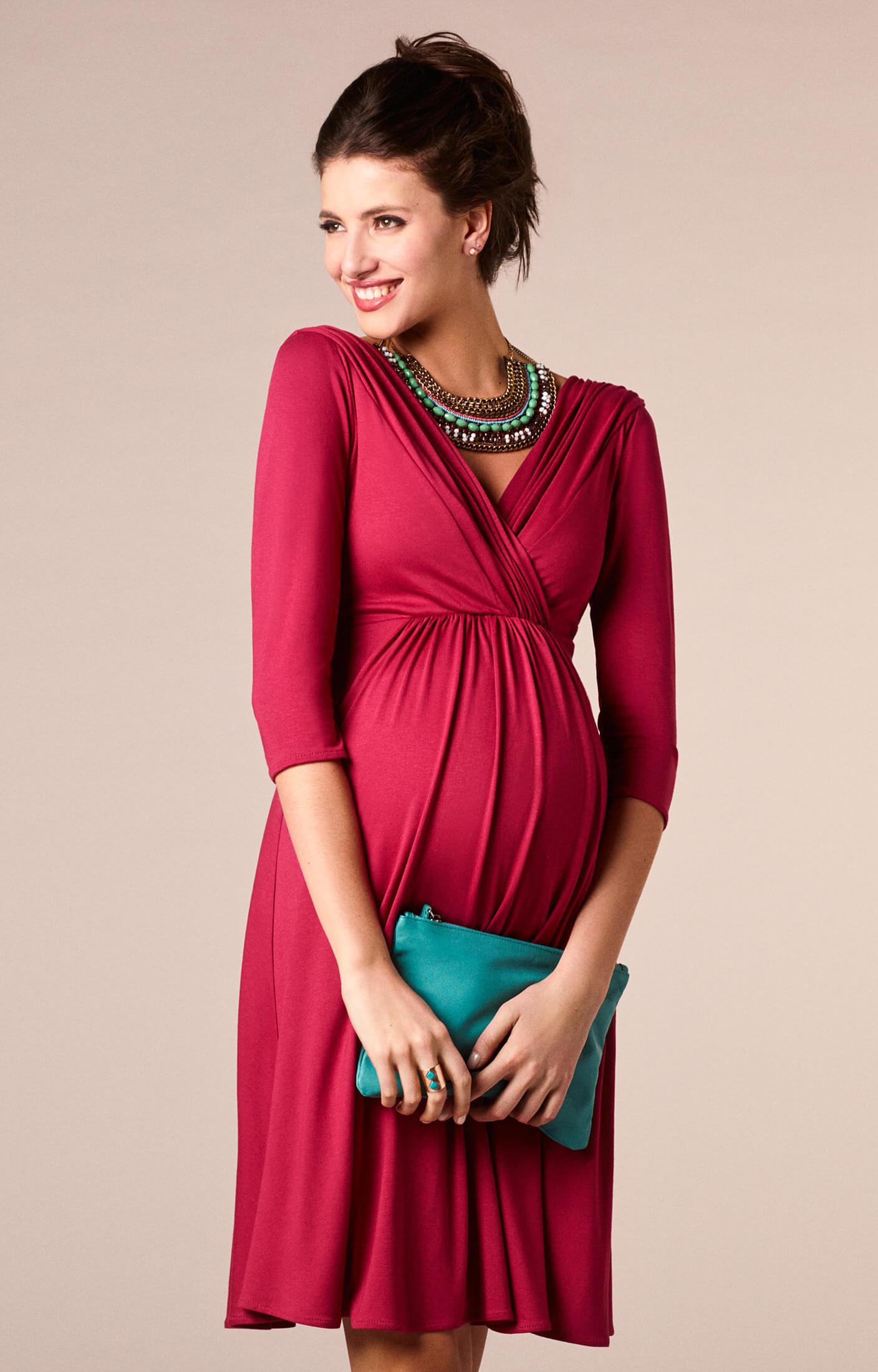 fe03995a08 Willow Maternity Dress Raspberry Pink - Maternity Wedding Dresses ...