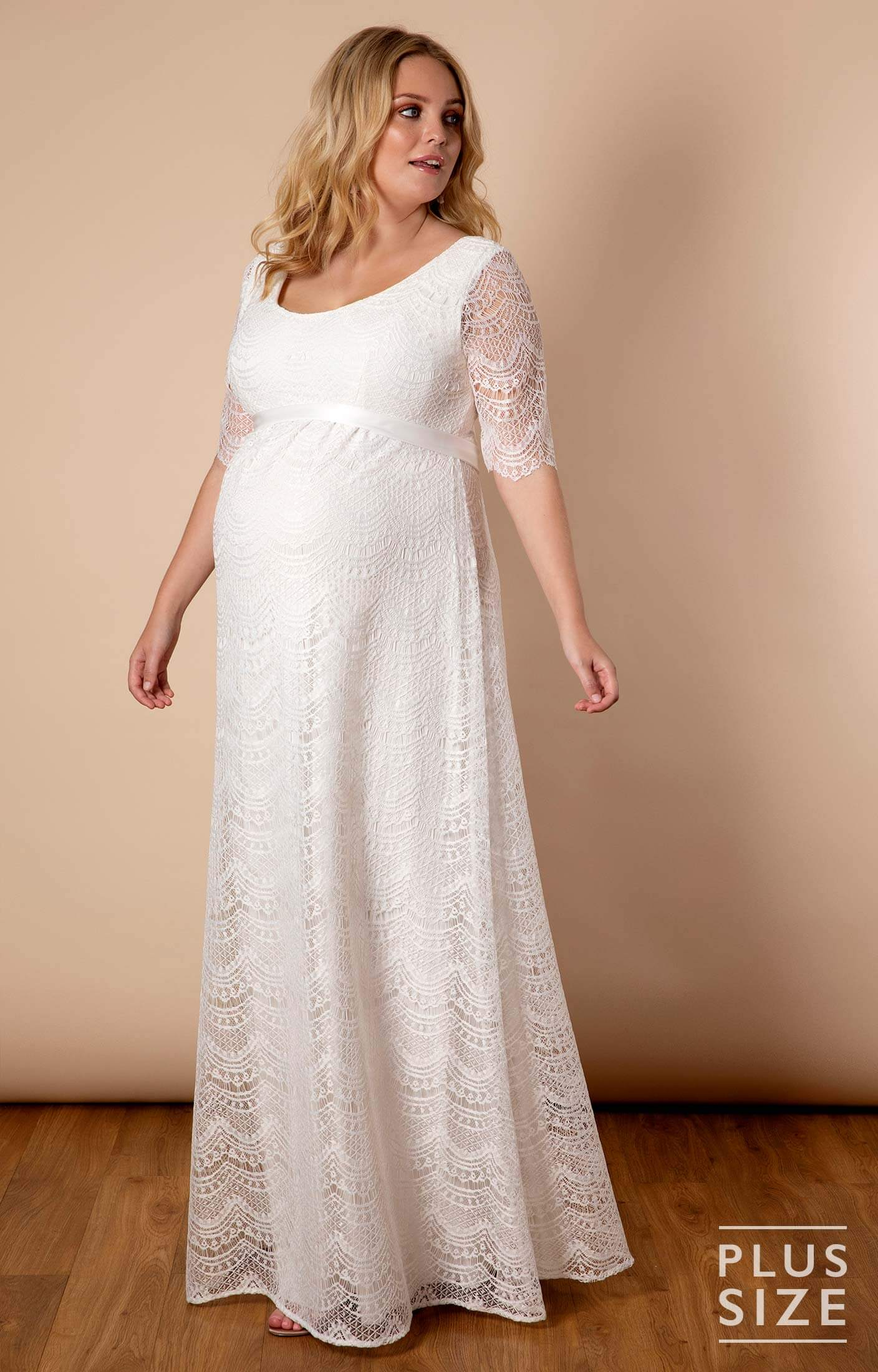 120dd3bbd09ac Verona Plus Size Maternity Wedding Gown Ivory White - Maternity Wedding  Dresses, Evening Wear and Party Clothes by Tiffany Rose NL