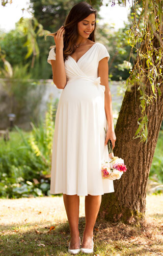 Alessandra Maternity Wedding Dress Short Ivory by Tiffany Rose