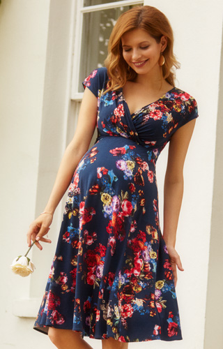 Alessandra Maternity Dress Short Midnight Garden by Tiffany Rose