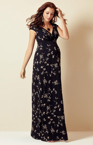 Alana Maternity Maxi Dress Night Blossom by Tiffany Rose