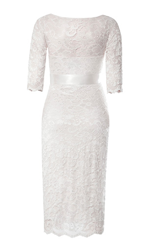 Amelia Lace Maternity Wedding Dress Short (Ivory) by Tiffany Rose