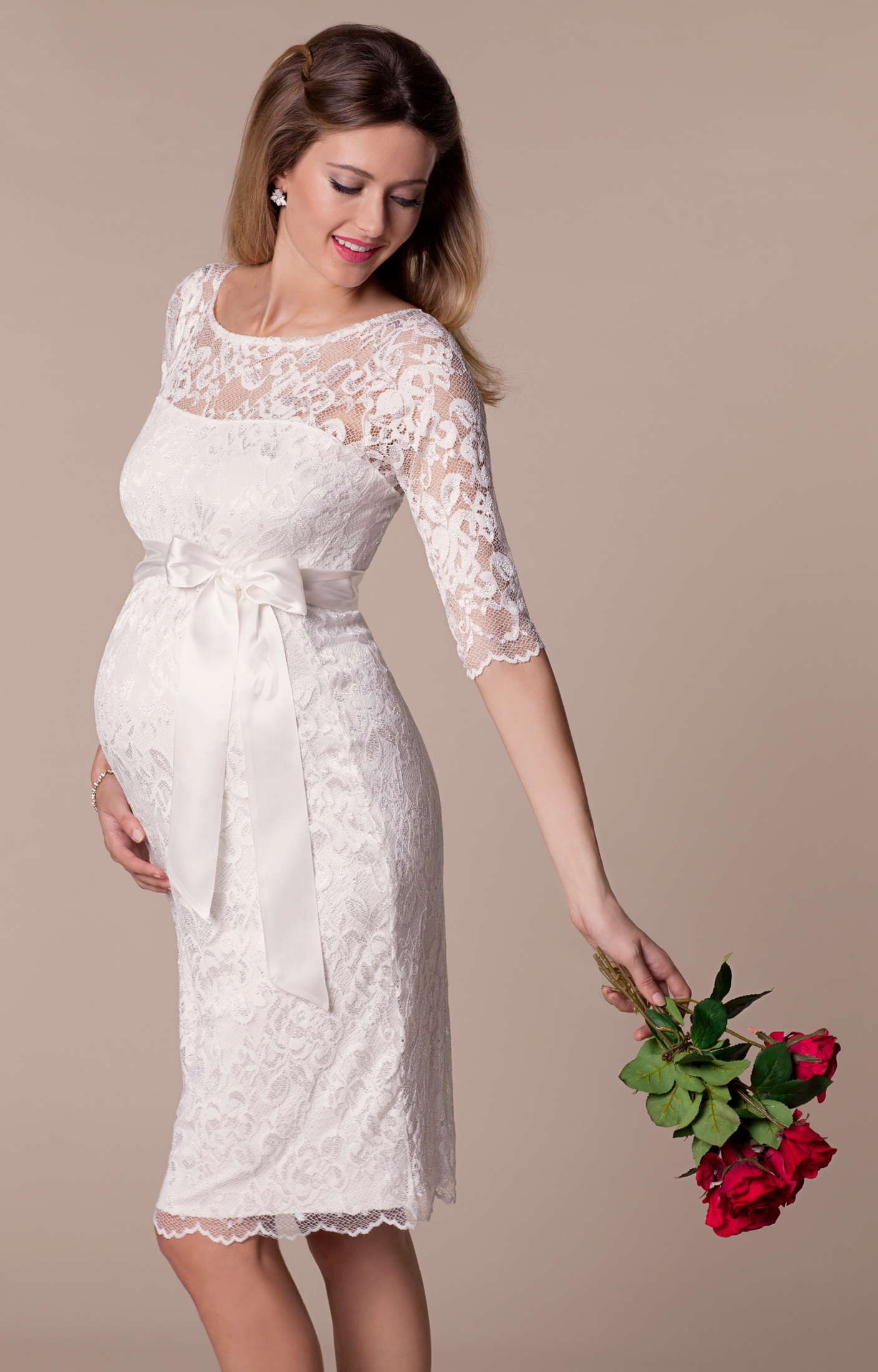 Amelia lace maternity wedding dress short ivory maternity amelia lace maternity wedding dress short ivory maternity wedding dresses evening wear and party clothes by tiffany rose ombrellifo Choice Image