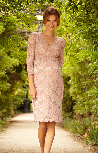 Chloe Lace Maternity Dress Orchid Blush