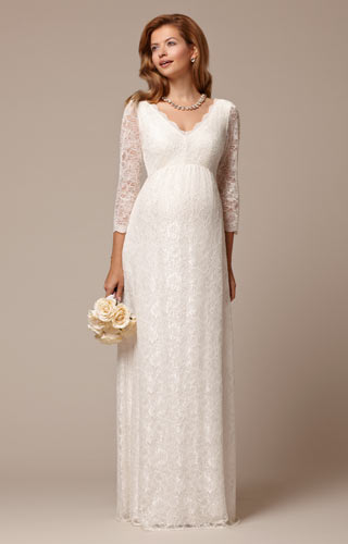 Chloe Lace Maternity Wedding Gown Ivory by Tiffany Rose