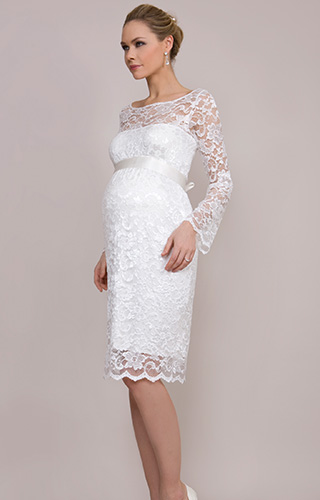 Chloe Maternity Dress (Ivory) by Tiffany Rose