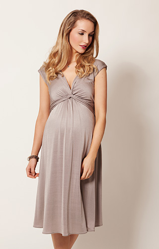 Clara Maternity Dress Short Mocha