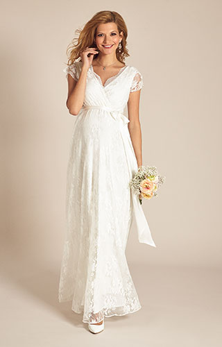 Eden Maternity Wedding Gown Long (Ivory Dream) by Tiffany Rose