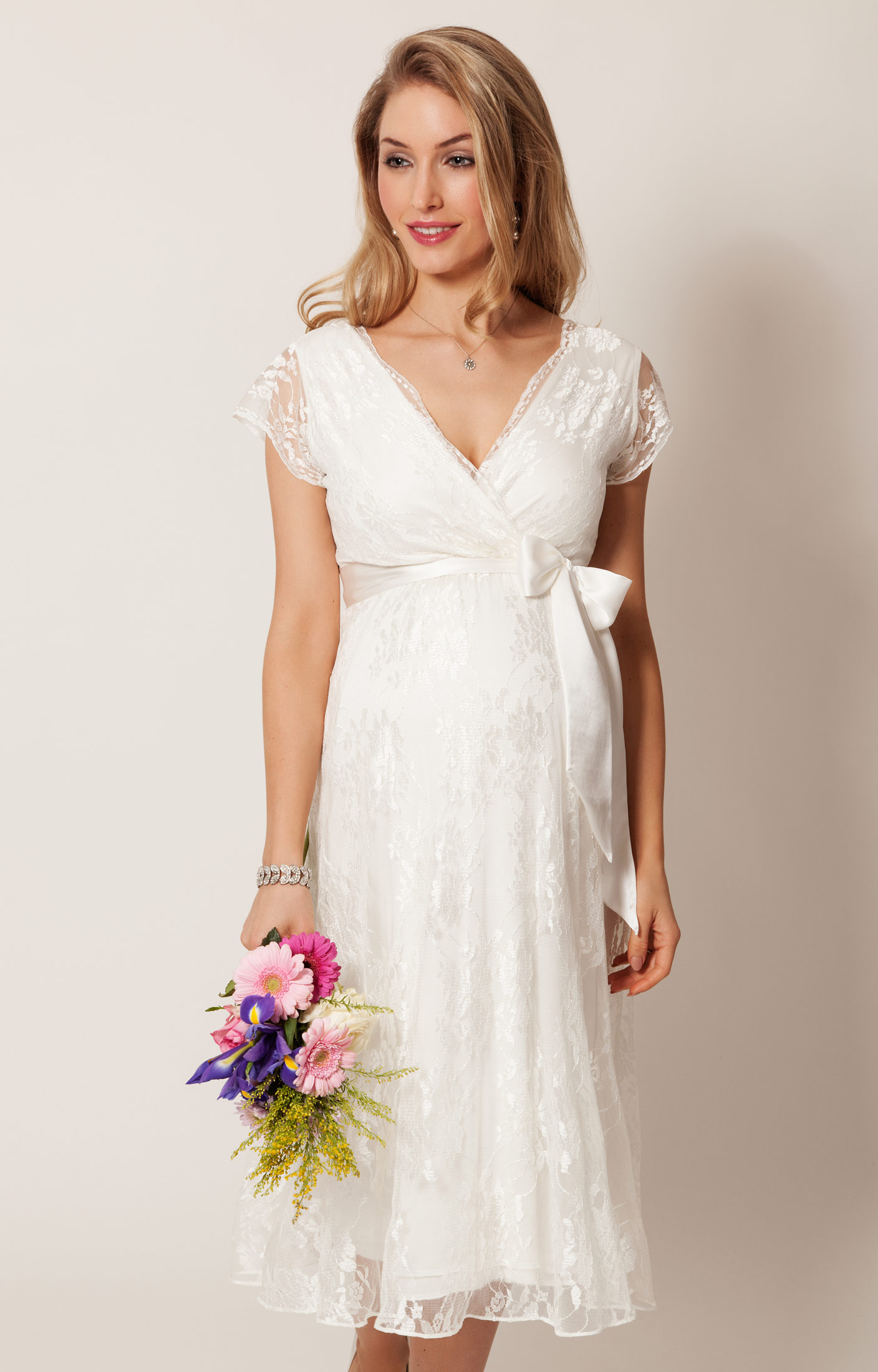 Eden Maternity Wedding Dress Ivory Dream) - Maternity Wedding ...