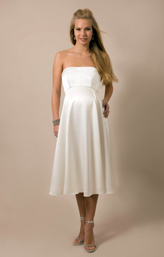Ella Maternity Wedding Gown (Short)