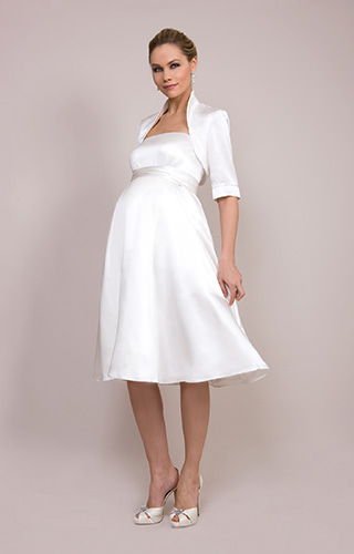 Ella Maternity Wedding Gown (Short) by Tiffany Rose