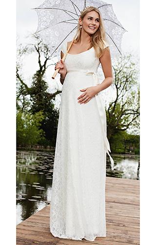 Идеи свадебных платьев для беременных фото