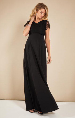 Eleanor Maternity Gown Black by Tiffany Rose