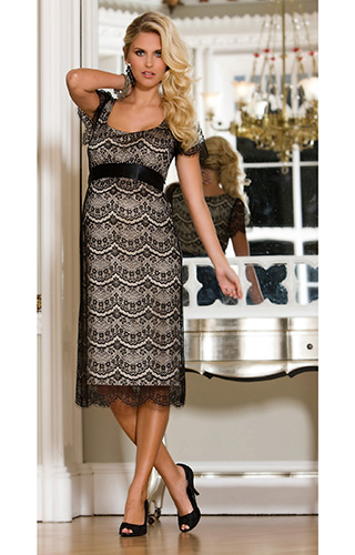 Flutter Lace Maternity Dress by Tiffany Rose