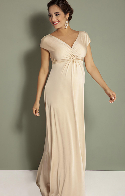 Francesca Maternity Maxi Dress Champagne by Tiffany Rose