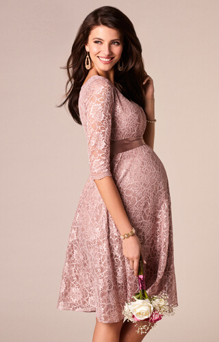 Freya Maternity Dress Short Orchid Blush by Tiffany Rose