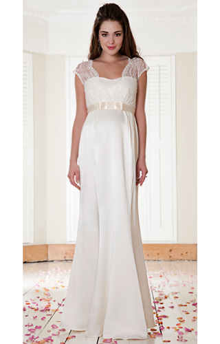 Georgia Maternity Wedding Gown (Vintage Ivory) by Tiffany Rose