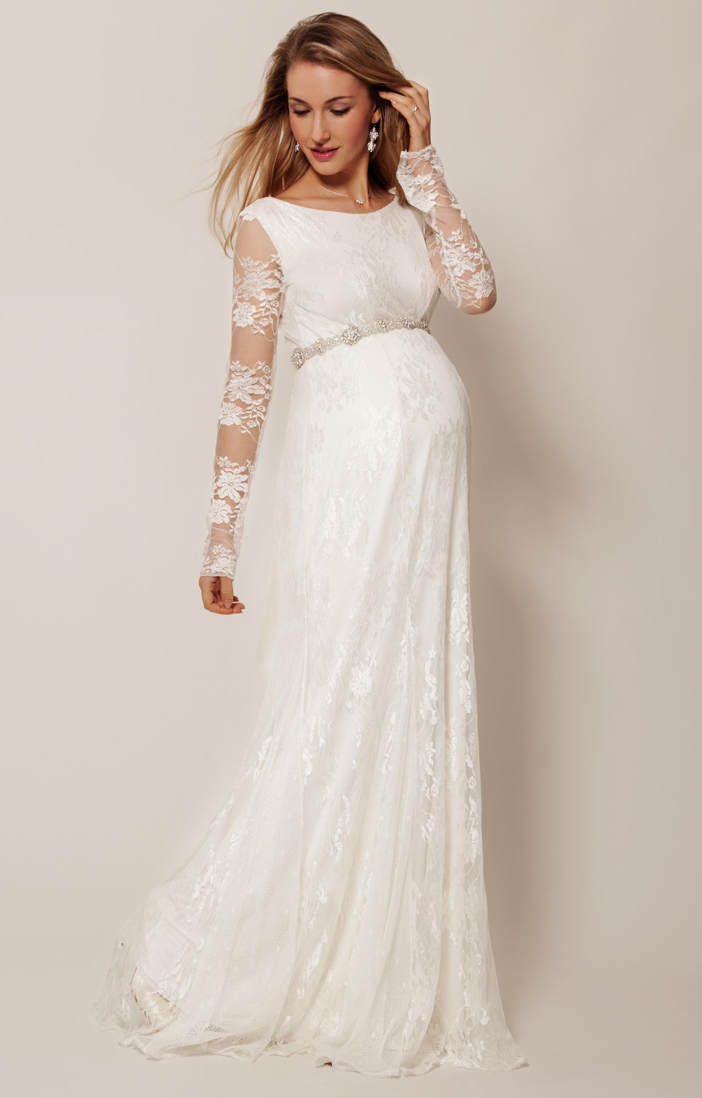 Pregnant Wedding Dress.Helena Gown