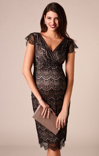 Imogen Maternity Shift Dress Black by Tiffany Rose