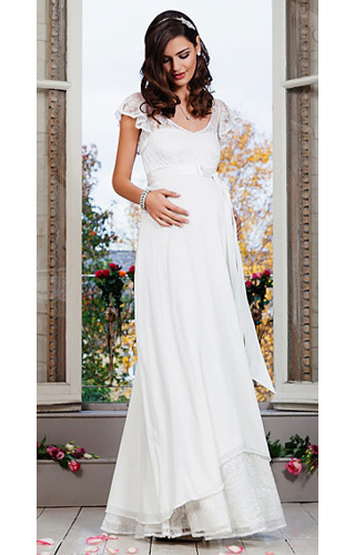 Juliette Maternity Wedding Gown (Ivory)