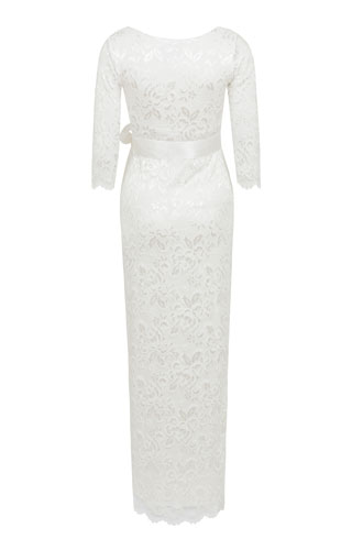 Katie Maternity Wedding Gown Long Ivory by Tiffany Rose