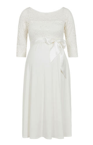 Lucia Maternity Wedding Dress Short Ivory White by Tiffany Rose