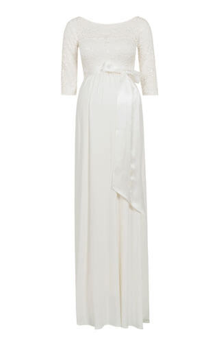 Lucia Maternity Wedding Gown Long Ivory White