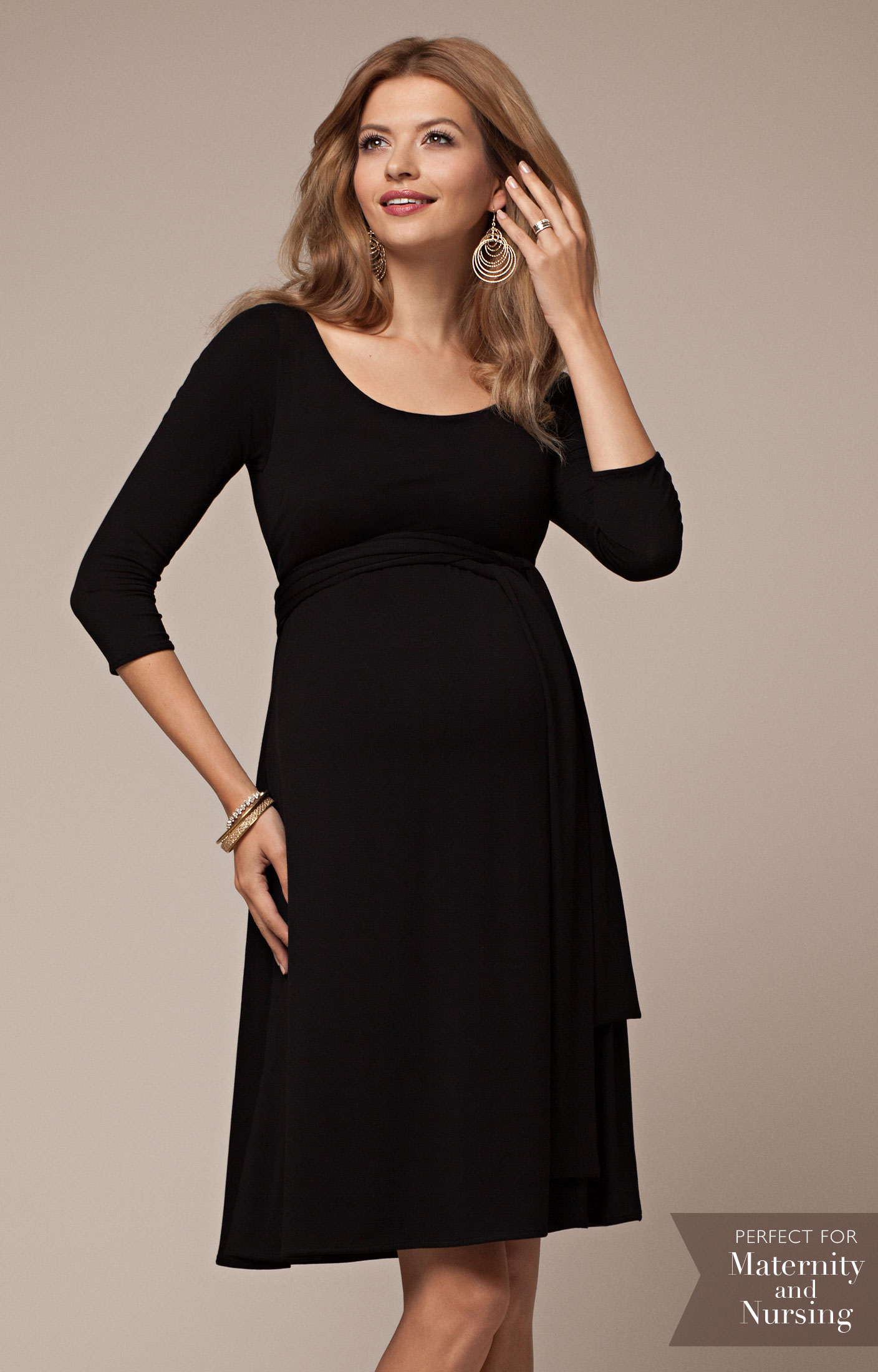 5323fcc5063 Naomi Maternity Nursing Dress Black - Maternity Wedding Dresses, Evening  Wear and Party Clothes by Tiffany Rose US