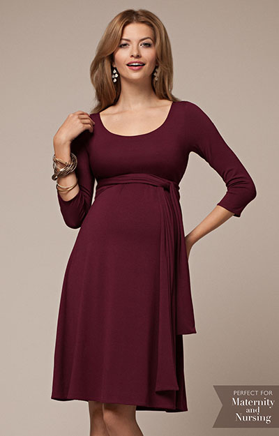 Naomi Maternity Nursing Dress Mulberry