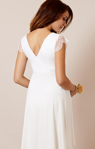 Nina Maternity Wedding Dress Ivory White