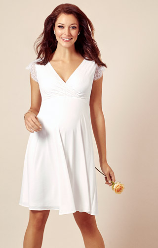 Nina Maternity Wedding Dress Ivory White by Tiffany Rose