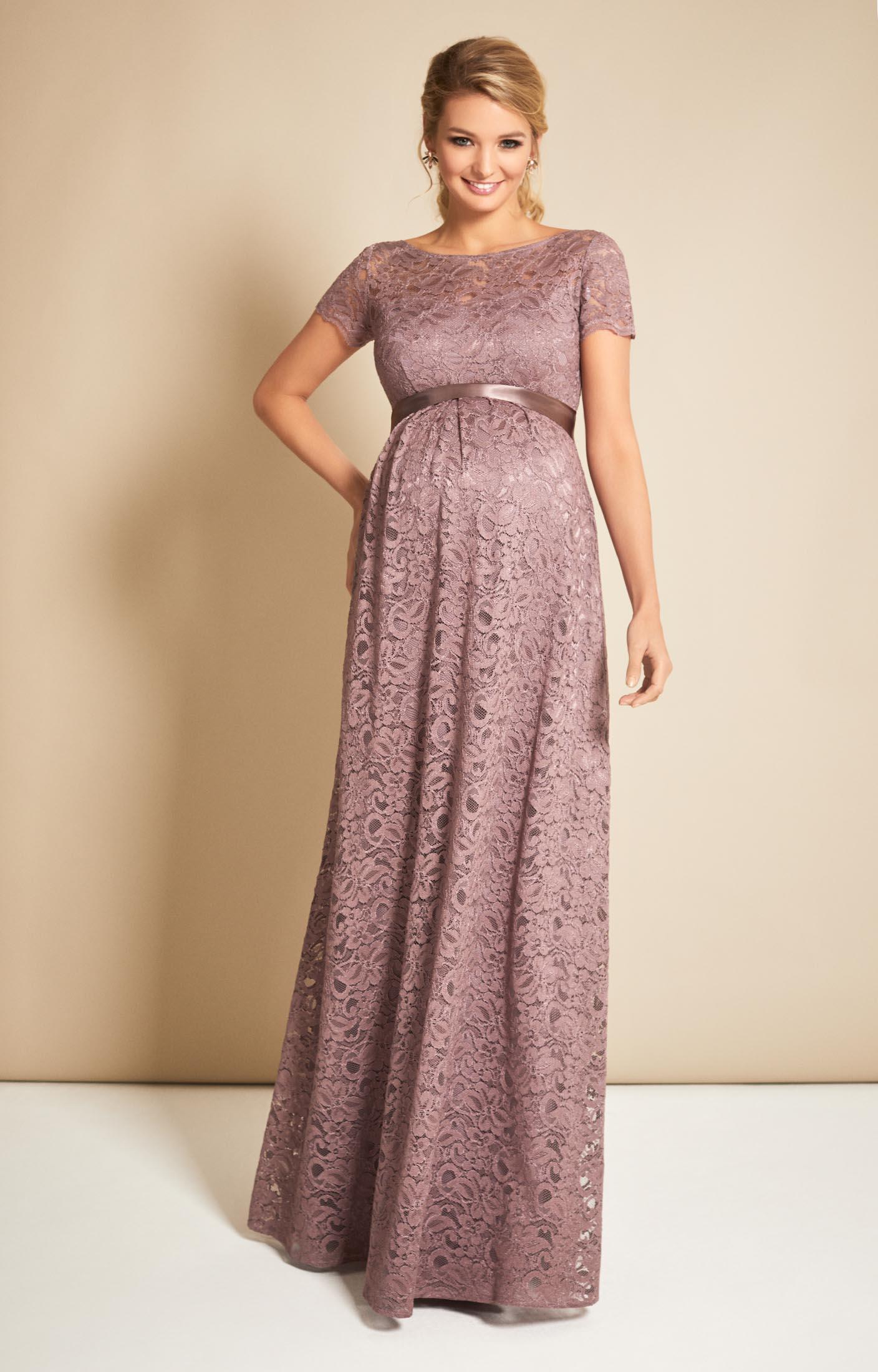 Penlope Spitzen Abendkleid in Vintage Violet