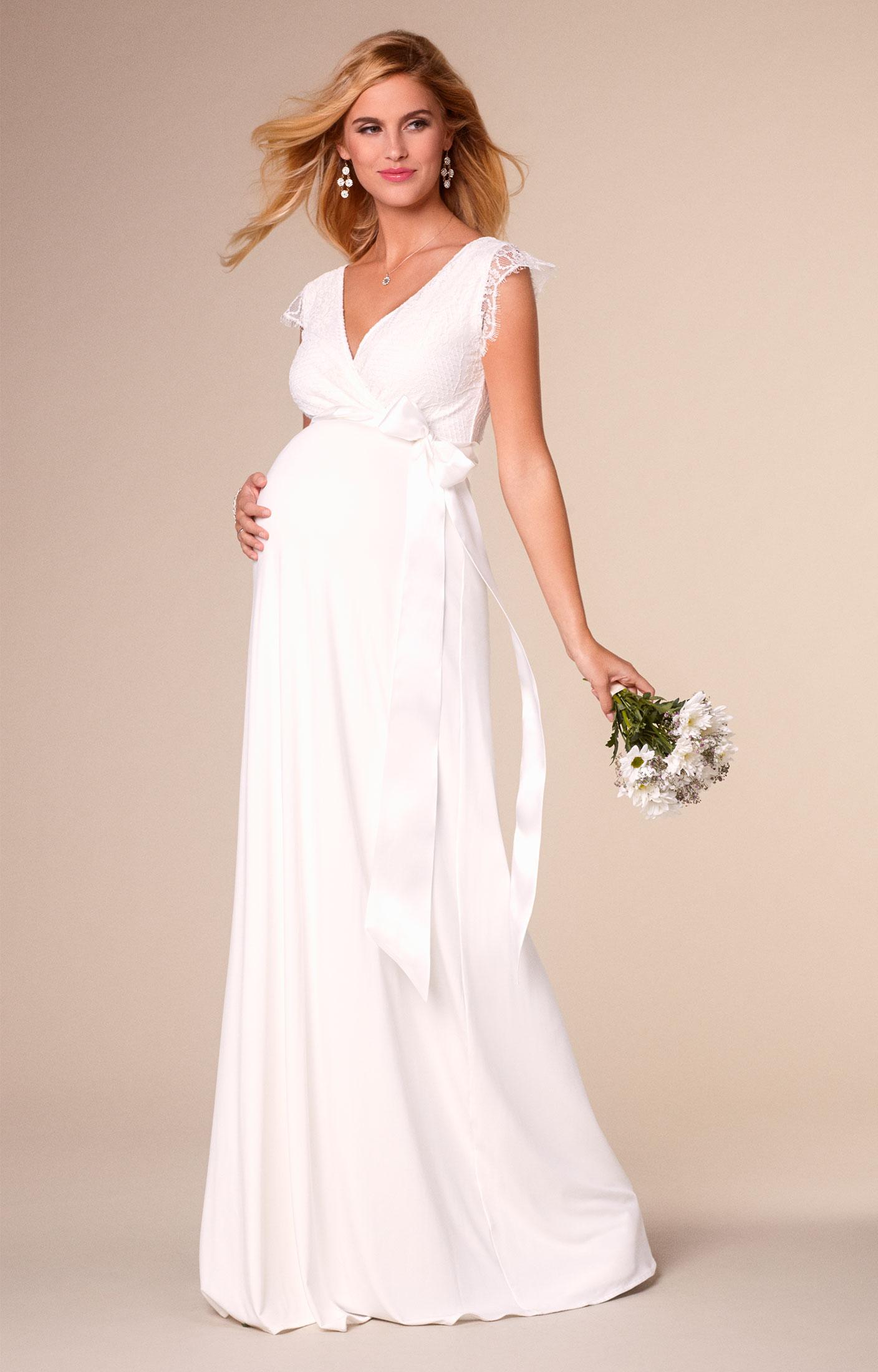 Robe de Mariée Grossesse Longue Ivoire , Robes de maternité de mariée,  tenues de maternité de soirée et vêtements pour soirée de Tiffany Rose. FR