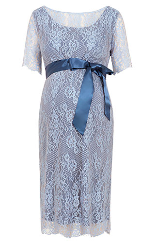Starla Maternity Dress Short Infinity Blue