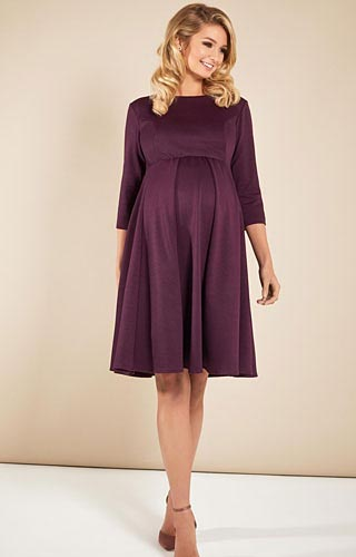 Sienna Maternity Dress Claret