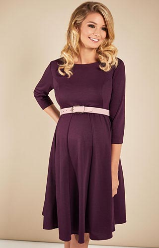 Sienna Maternity Dress Claret by Tiffany Rose