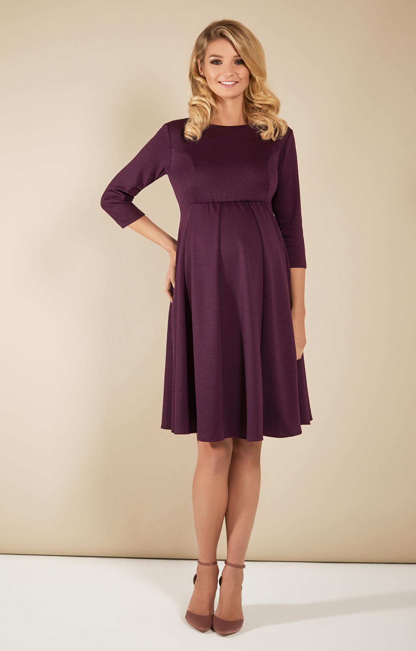 Umstandsmoden-Kleid Sienna Bordeaux ...