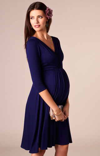 Willow Maternity Dress Eclipse Blue by Tiffany Rose
